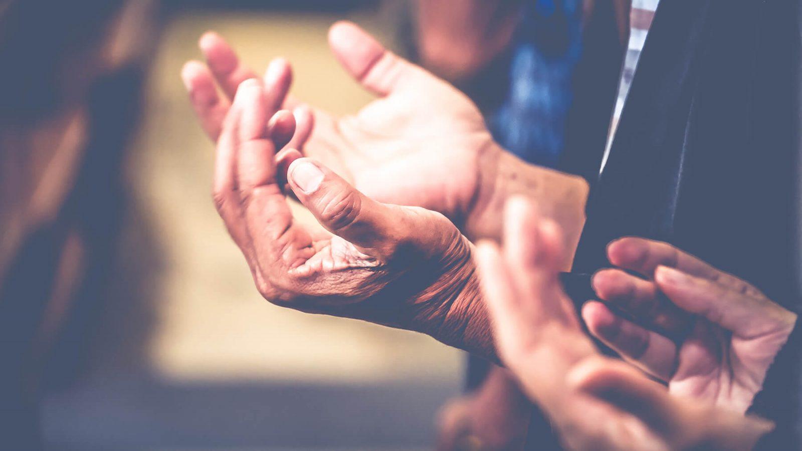 open praying hands