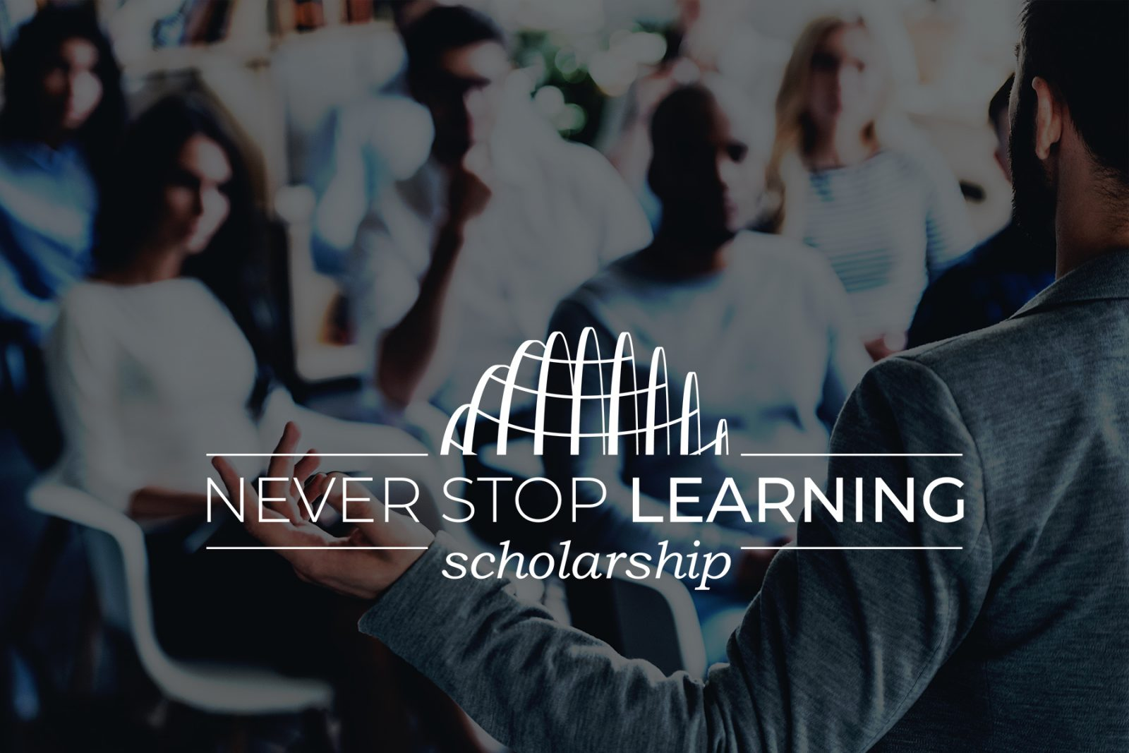scholarship, header, never stop learning