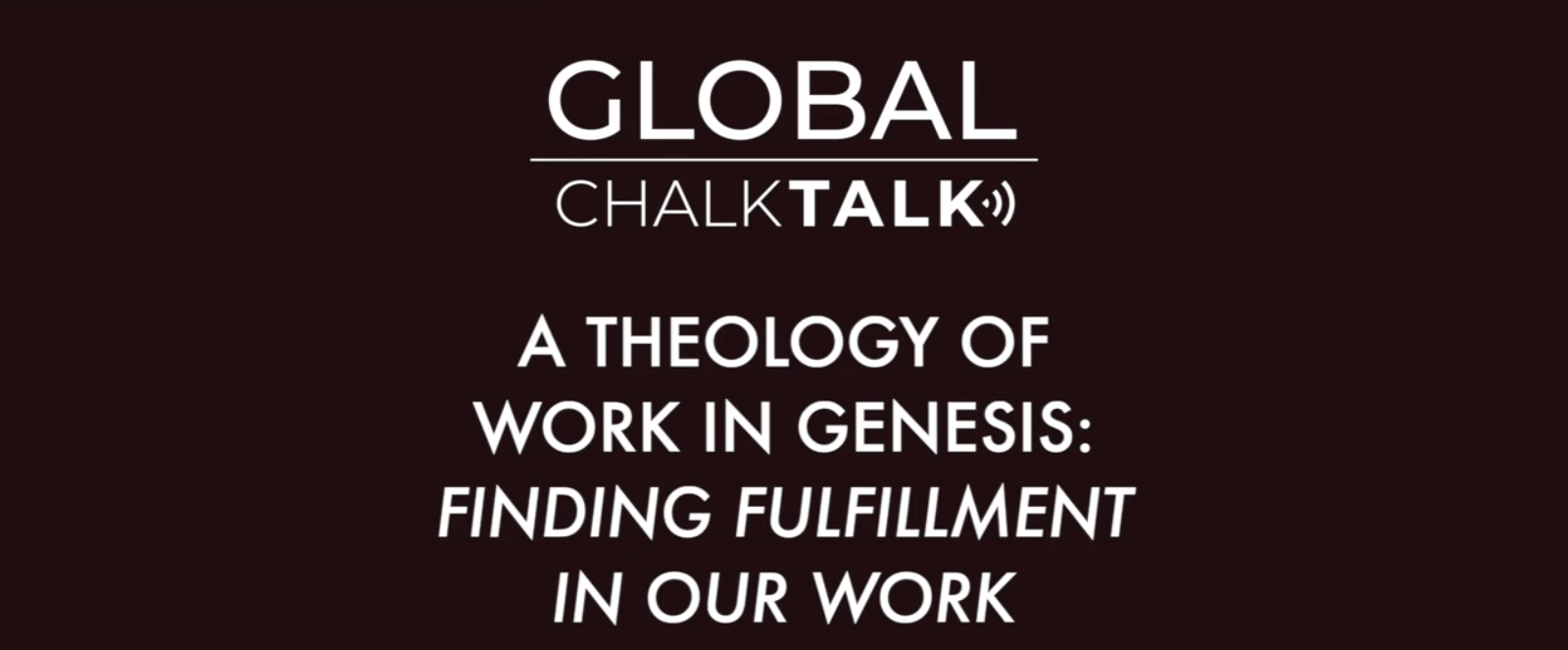 Theology, Work in Genesis