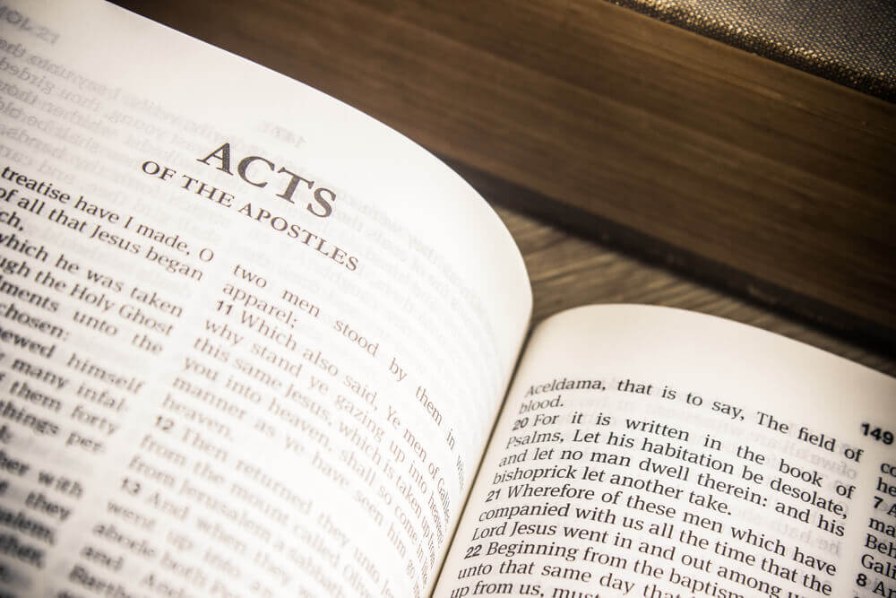 Bible Open to Book of Acts